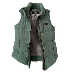 SLEY Mens Green Gray Outdoor Vest Size Small